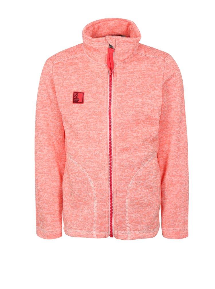 Neonově růžová holčičí žíhaná mikina LOAP Krispin
