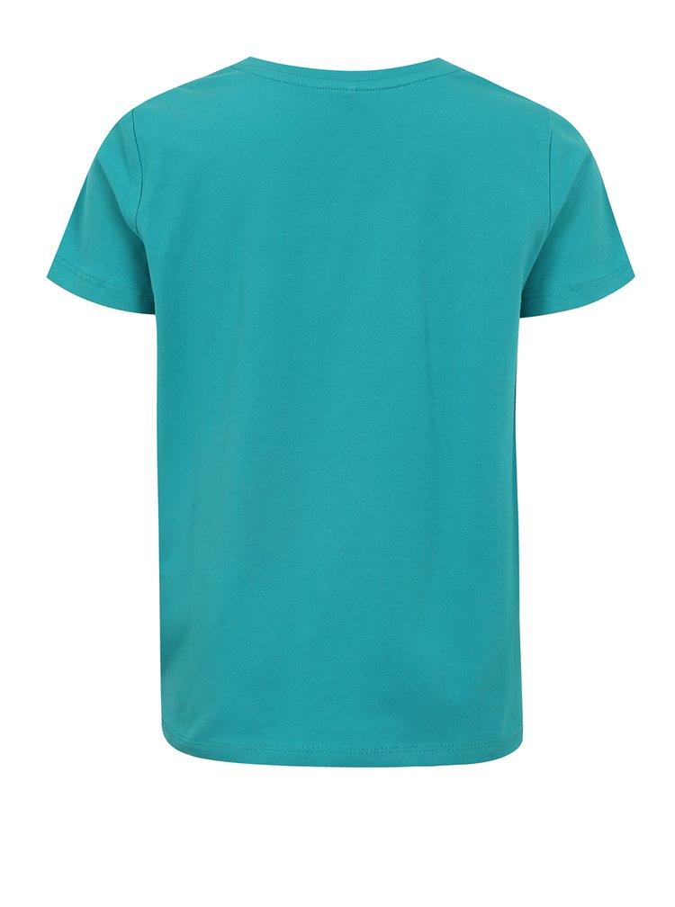 Tyrkysové klučičí tričko s potiskem name it Sam
