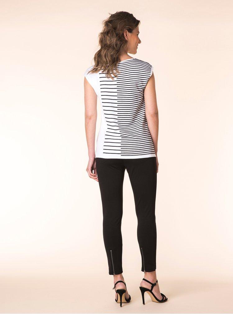 Černo-bílé svetrové vzorované tričko Yest