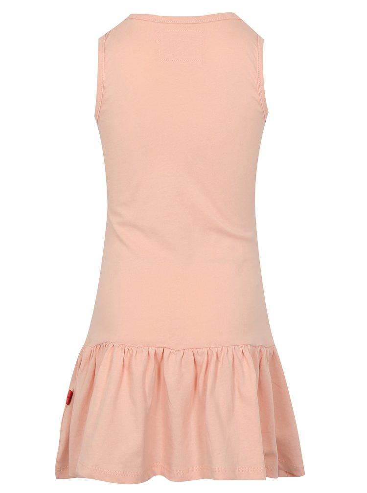 Světle růžové holčičí šaty s potiskem LOAP Itilina