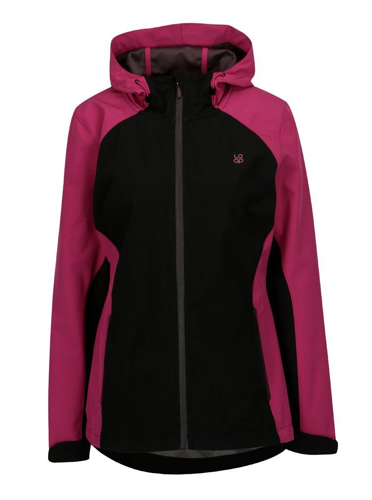 Černo-růžová dámská softshellová bunda LOAP Libbi