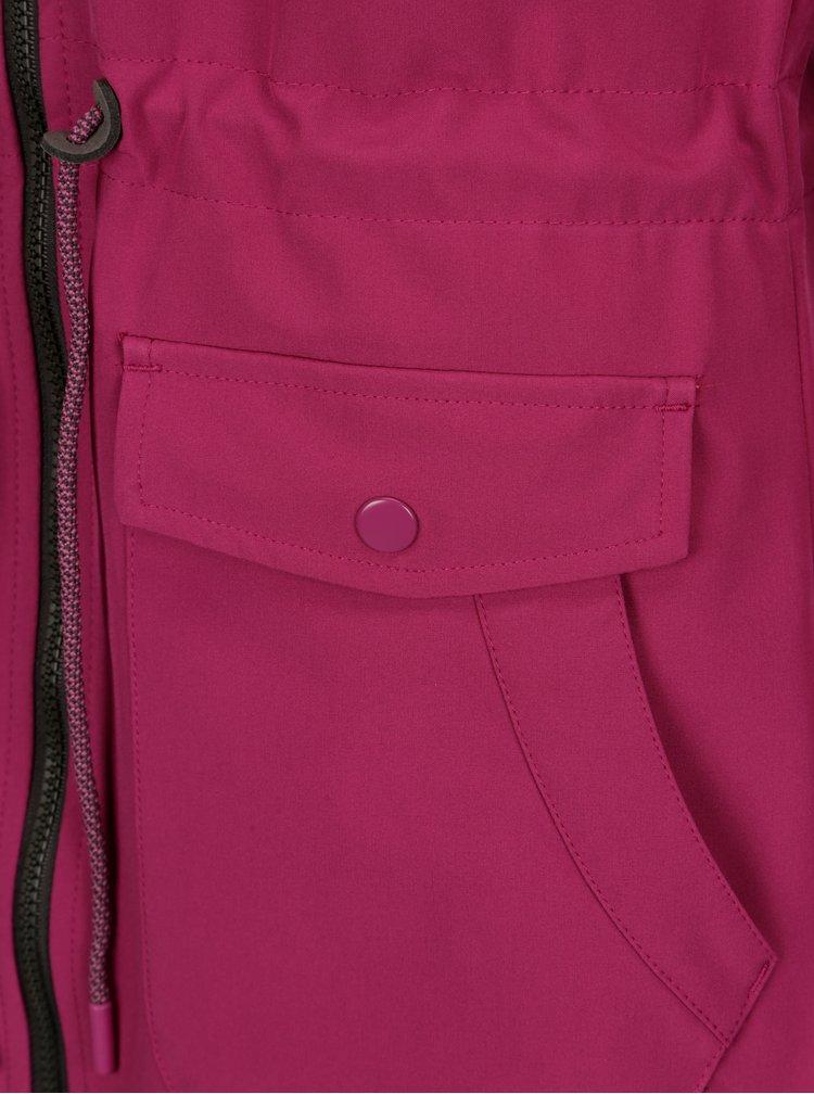 Růžová dámská softshellová parka LOAP Lottie
