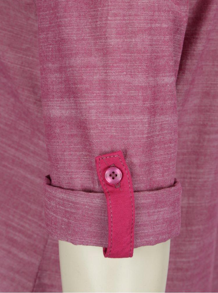 Růžové žíhané šaty s 3/4 rukávem LOAP Nicia