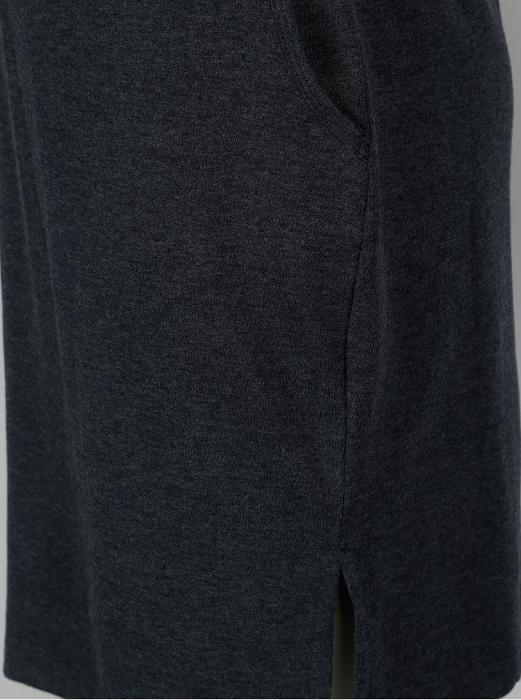 Tmavě modré mikinové žíhané šaty s kapsami LOAP Damara