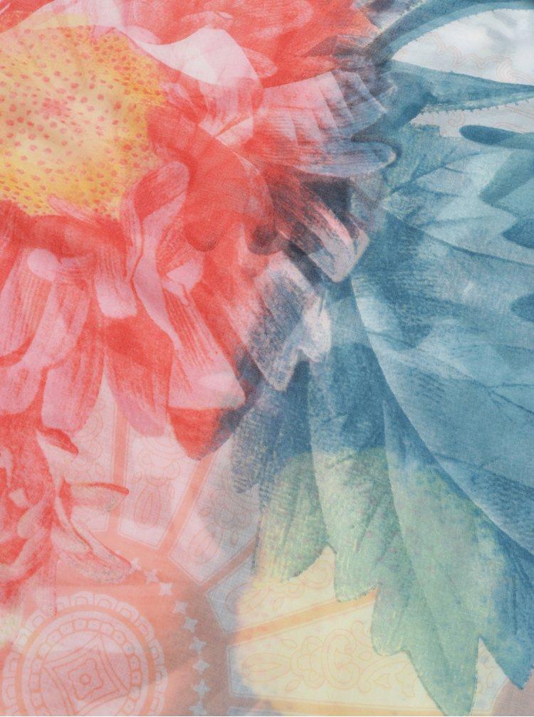 Tyrkysovo-růžový šátek Desigual New Valkiria