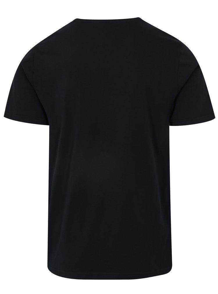 Tmavě modré tričko s výšivkou ONLY & SONS Dereck