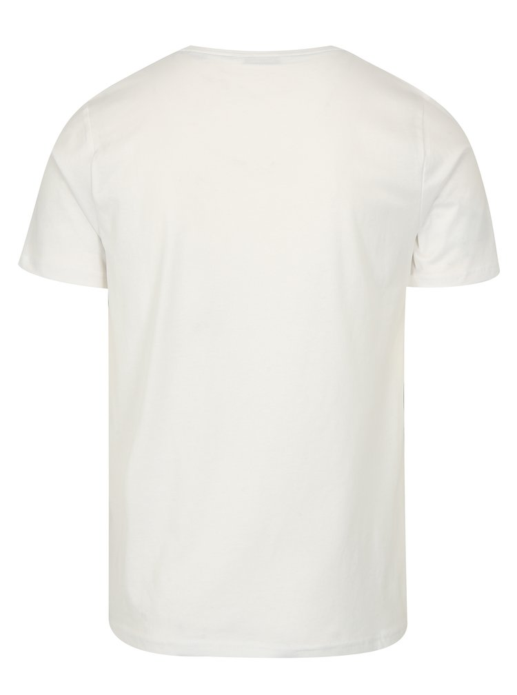 Krémové tričko s výšivkou ONLY & SONS Dereck