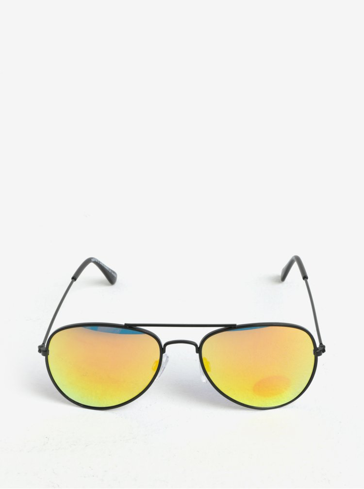 Oranžovo-černé dětské sluneční brýle name it Sun