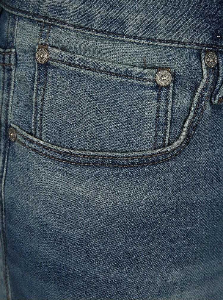 Modré džínové regular fit kraťasy Jack & Jones Rick