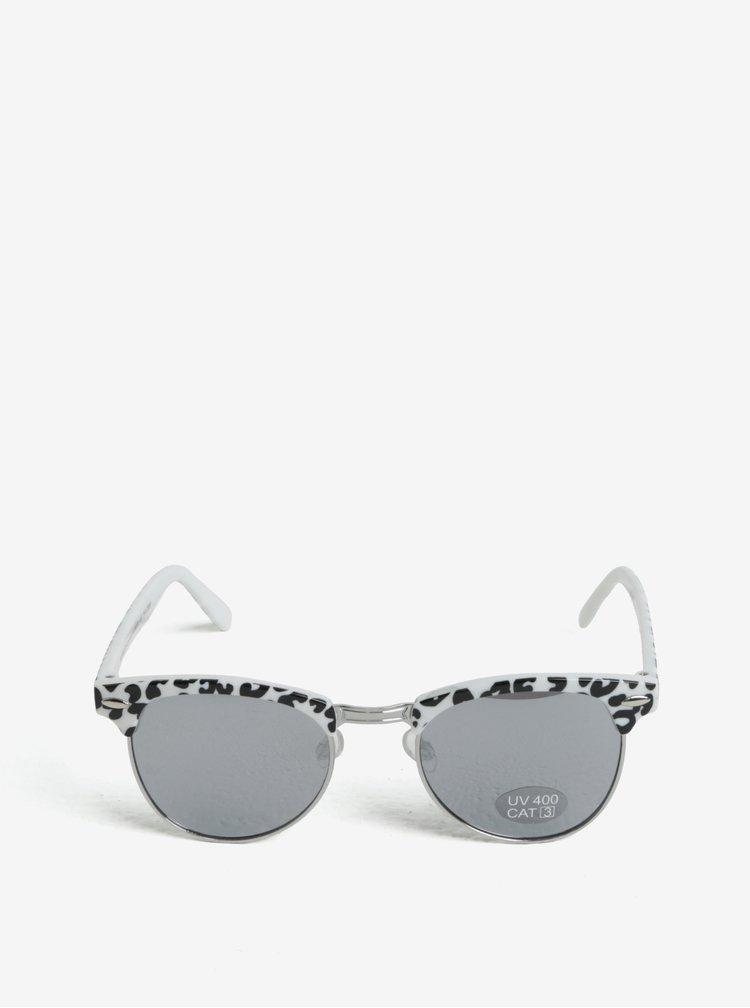 Bílé holčičí sluneční brýle se zvířecím vzorem name it Sun