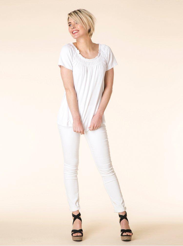 Bílé tričko s krátkým rukávem Yest
