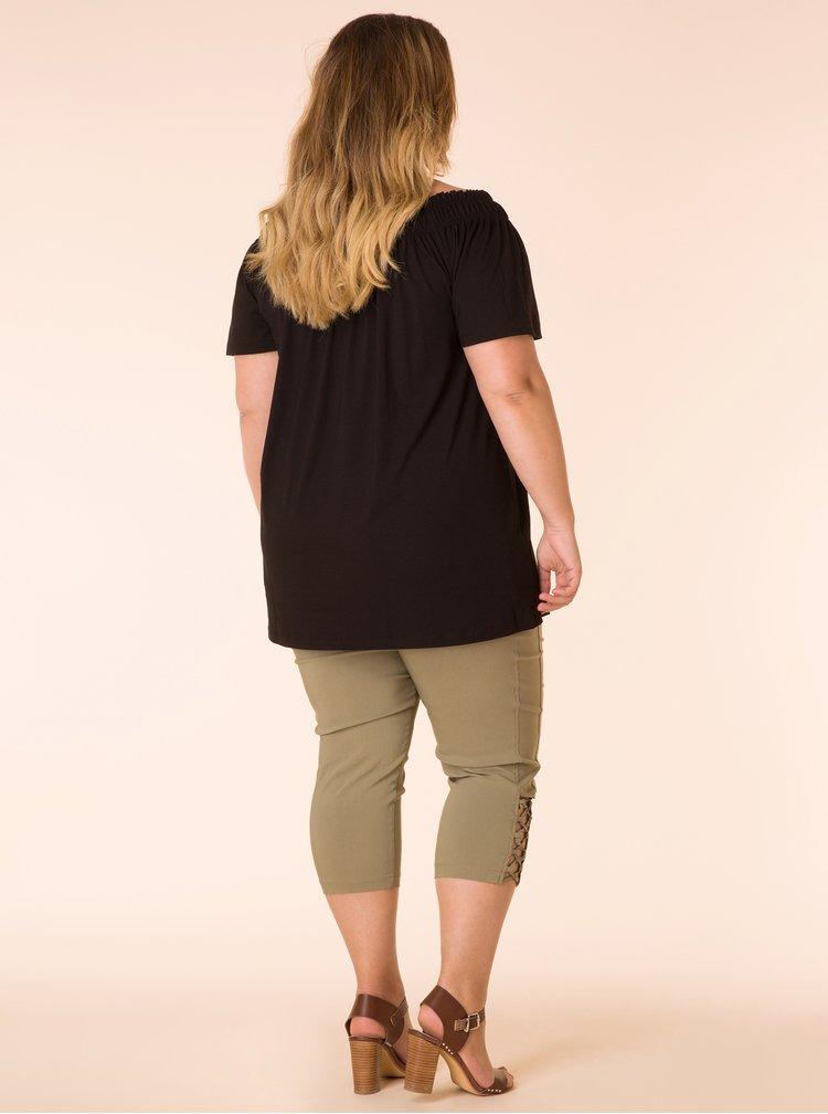 Černé tričko s krátkým rukávem Yest