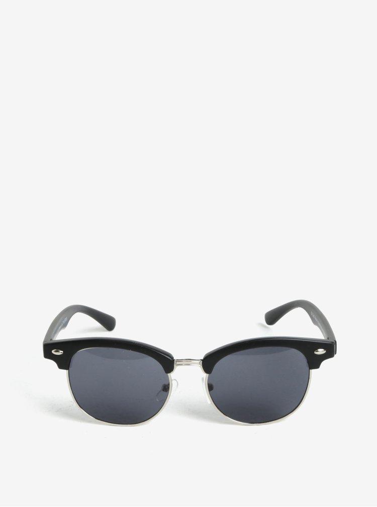 Stříbrno-černé dětské sluneční brýle name it Sun