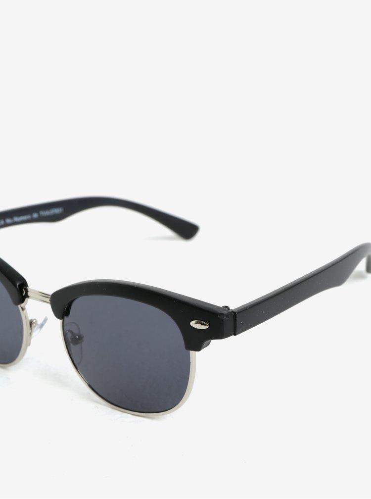 Strieborno-čierne detské slnečné okuliare name it Sun