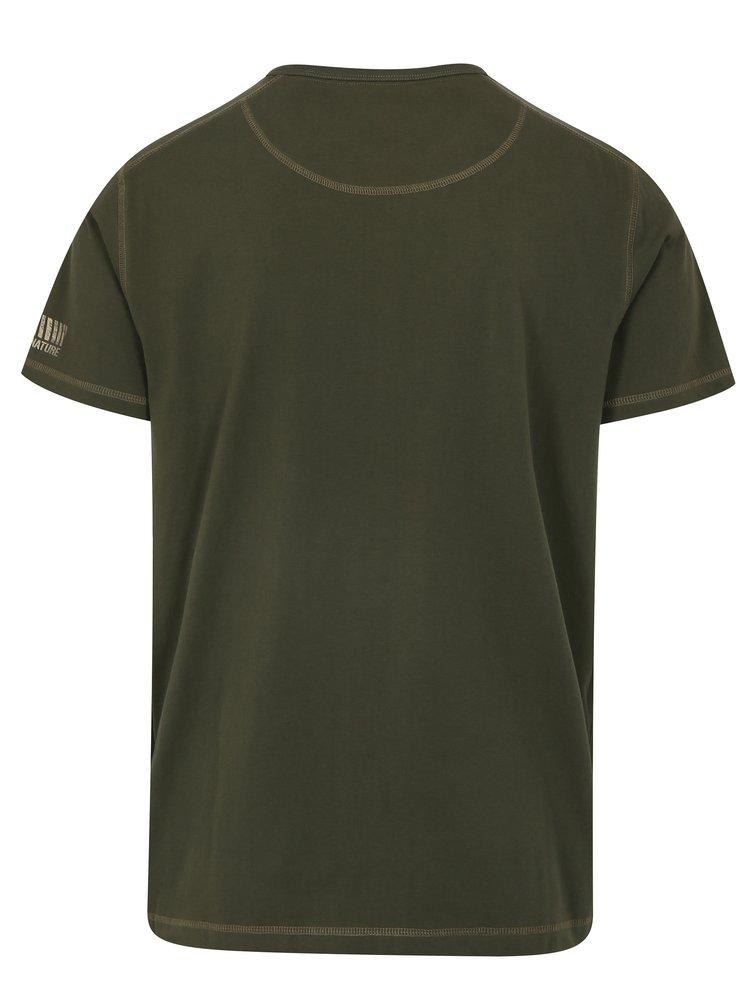 Tricou verde inchis din bumbac pentru barbati - BUSHMAN Caredo
