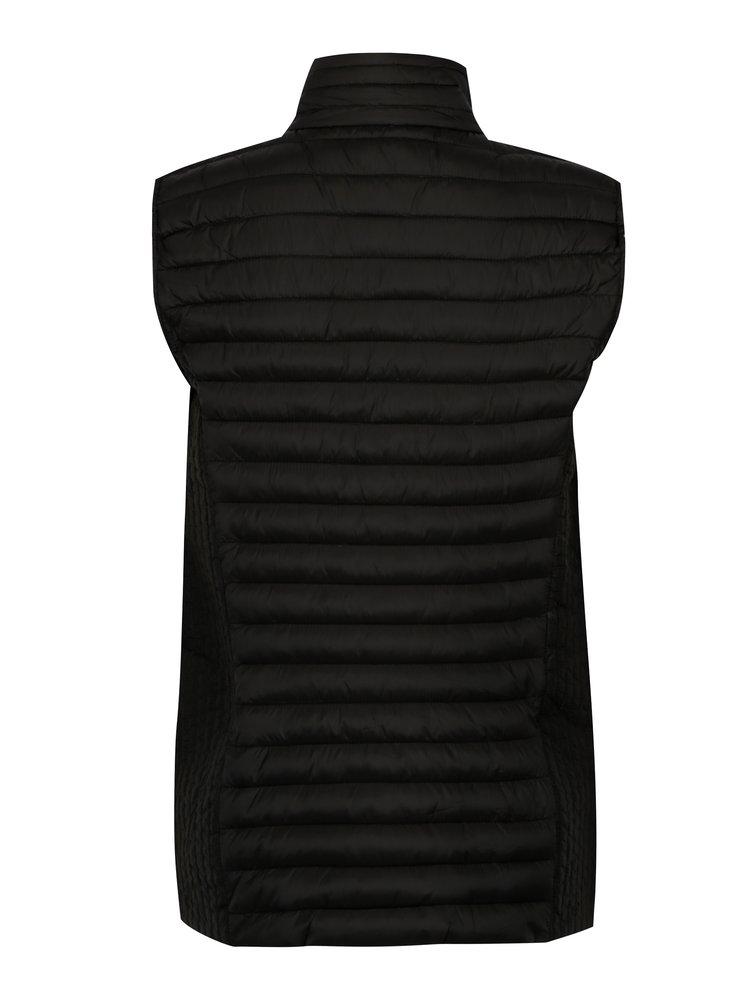 Černá prošívaná vesta s kapsami Yest