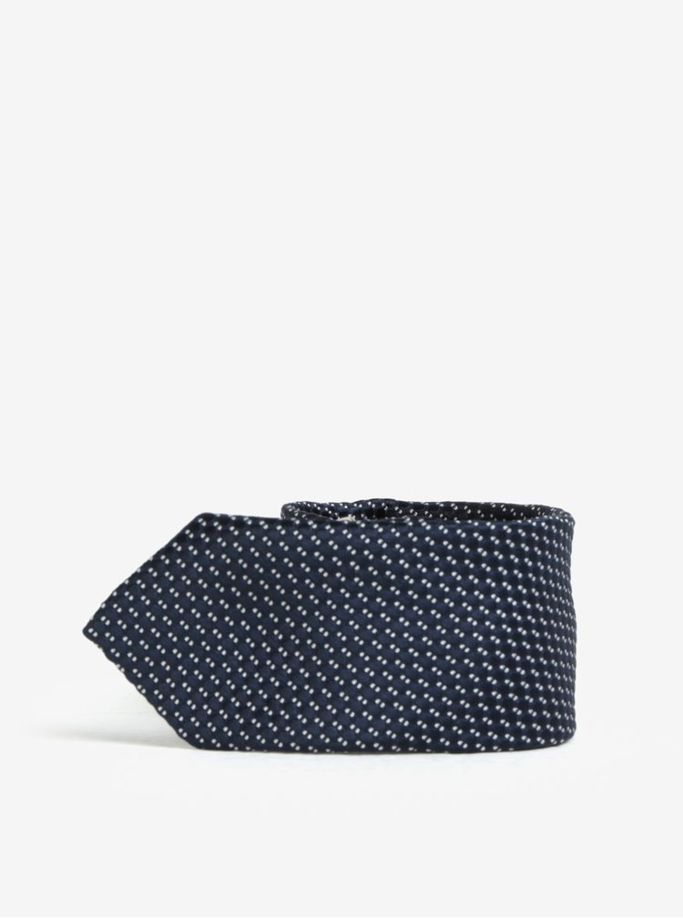Tmavomodrá chlapčenská kravata s drobným pravidelným vzorom name it Mixi