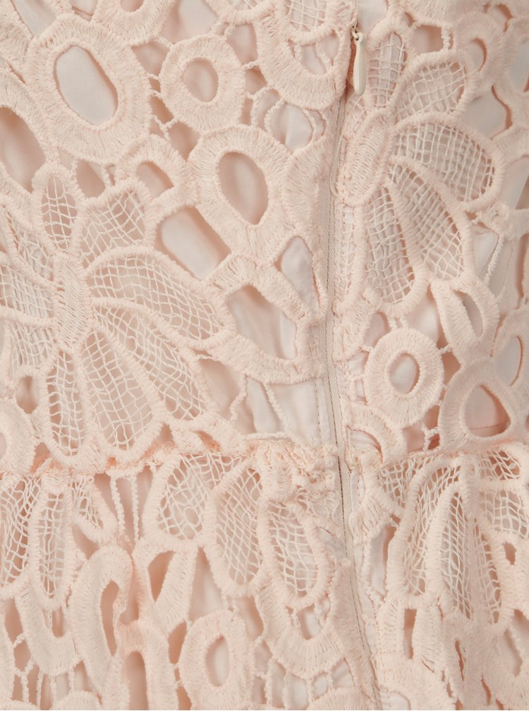 Rochie roz pal din dantela VILA Dalton