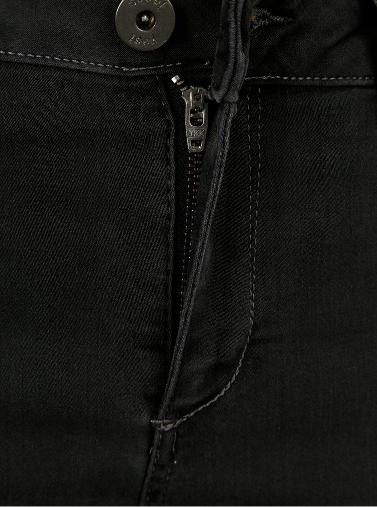 Tmavě šedé push up slim fit džíny Yest