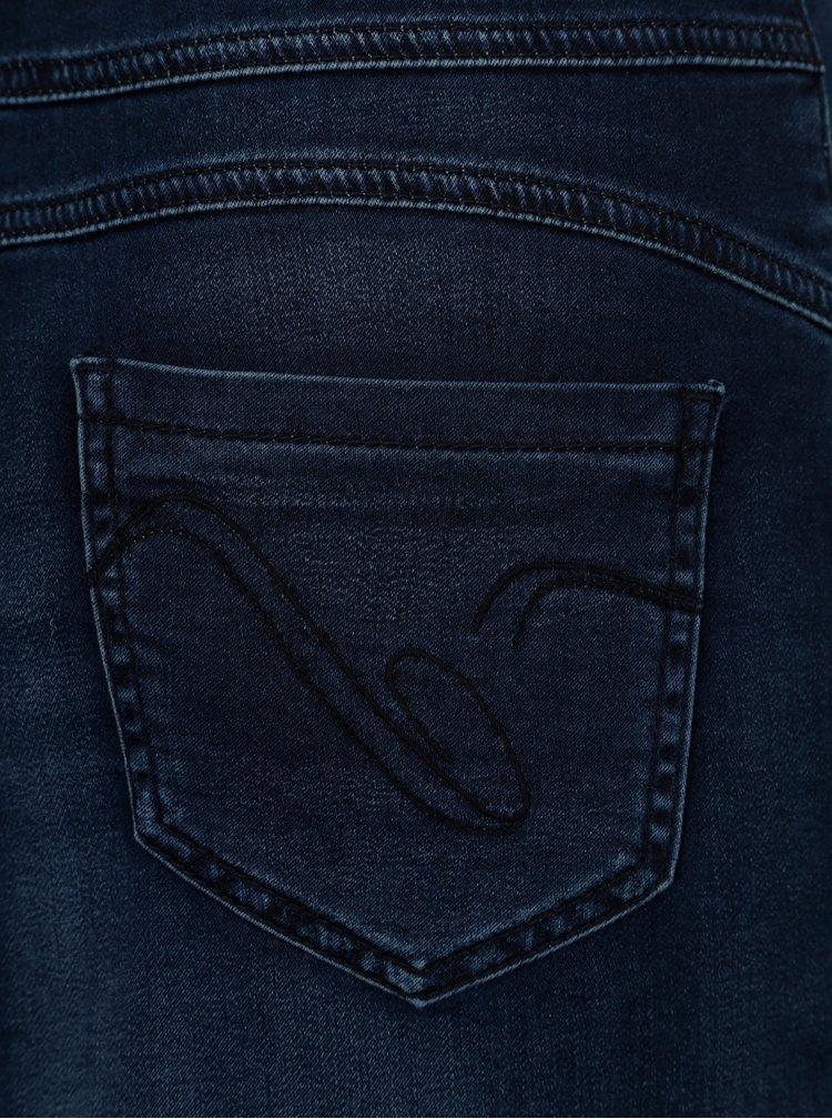 Tmavě modrá džínová sukně Yest