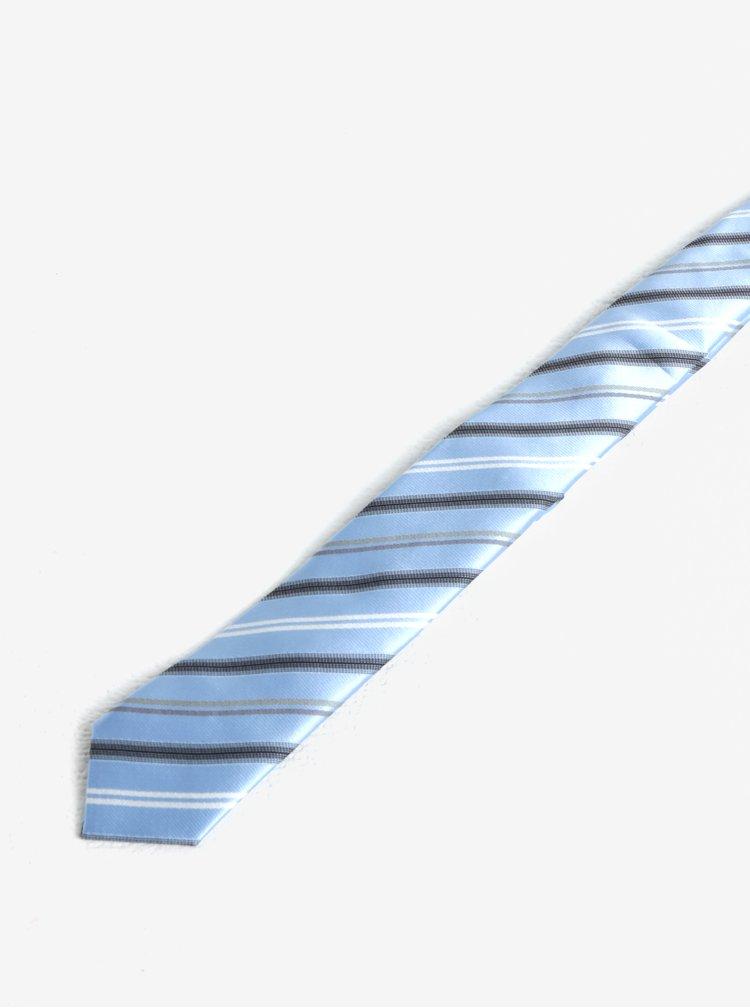 Světle modrá klučičí pruhovaná kravata name it Mixi