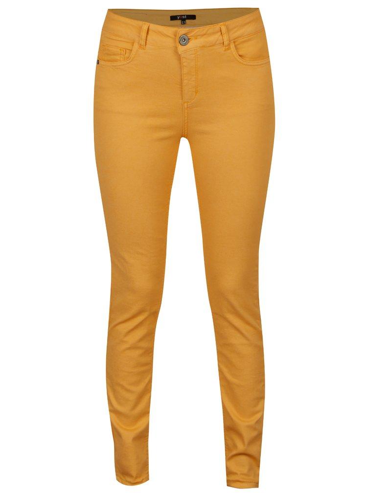 Oranžové slim fit džíny Yest