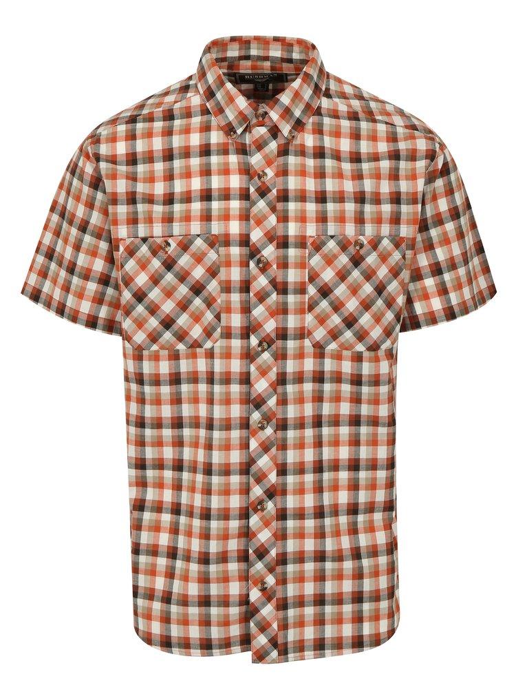 Krémovo-cihlová kostkovaná košile BUSHMAN Creole