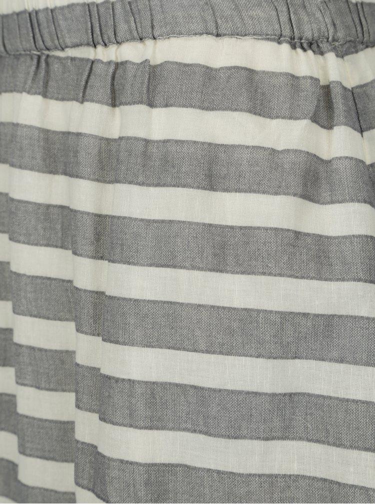 Krémovo-šedá pruhovaná sukně VILA Dehia