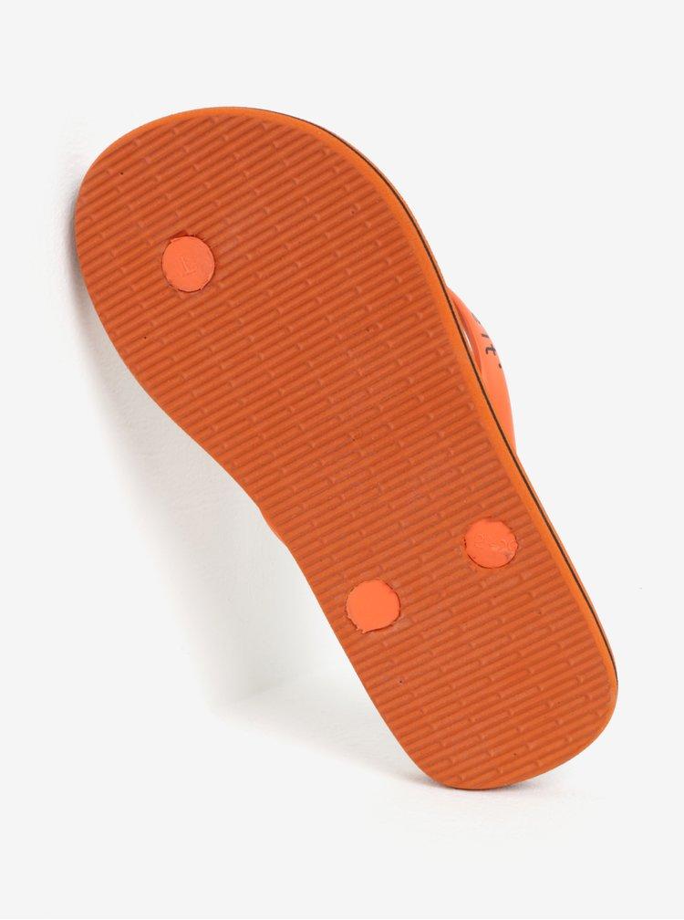 Oranžovo-černé dětské vzorované žabky name it Zippo