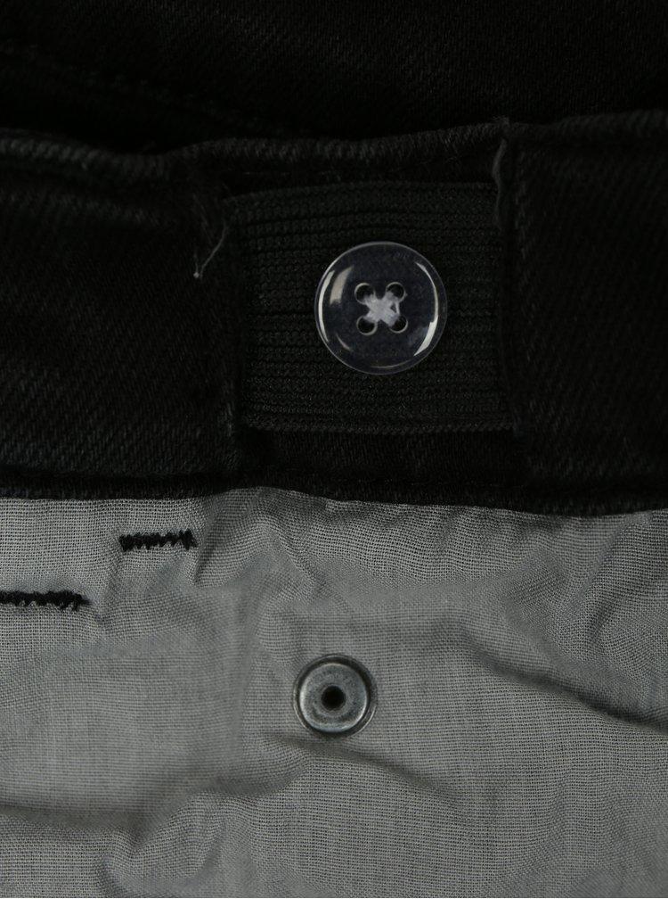 Černé dětské džínové kraťasy s potrhaným efektem name it Sofus