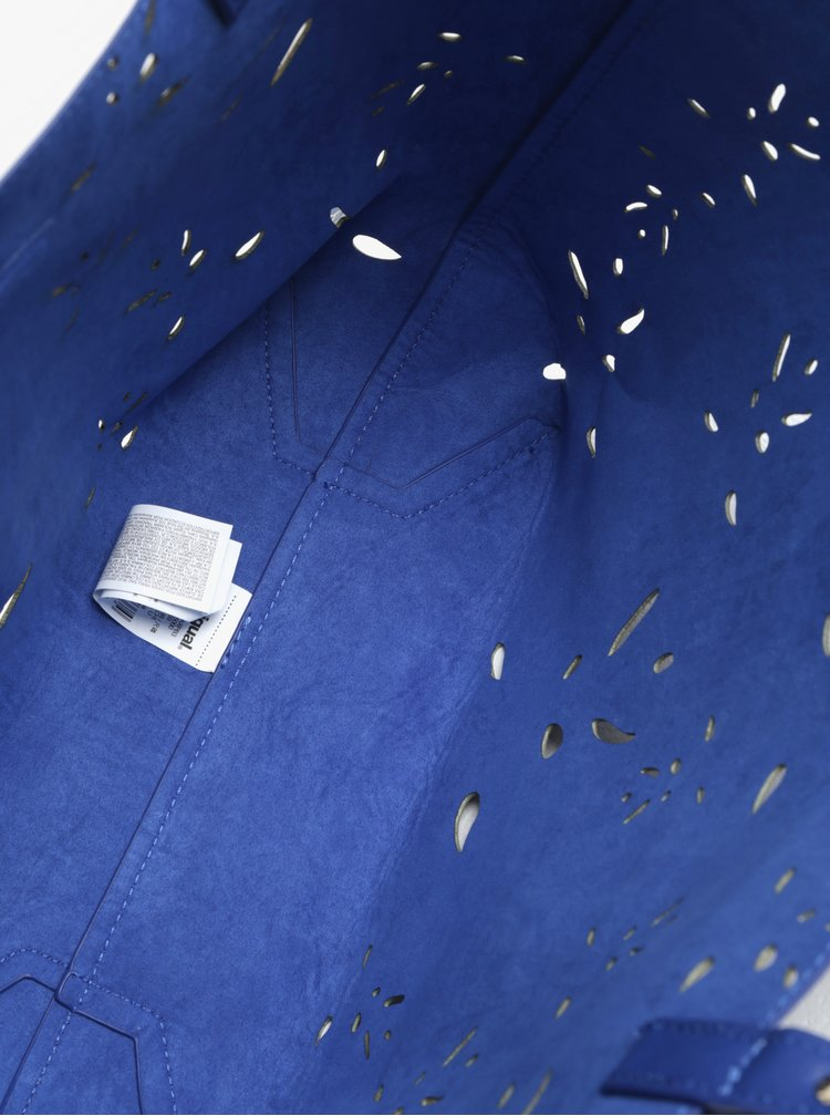Modrý vzorovaný shopper s pouzdrem Desigual Attalea Capri
