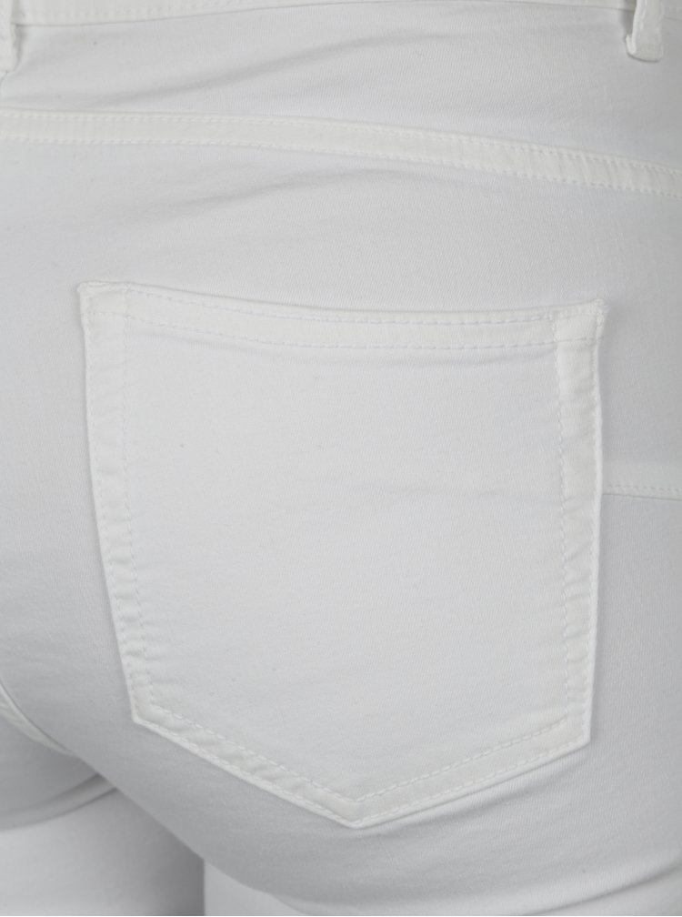 Bílé push up slim fit džíny Yest
