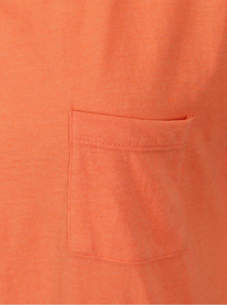 Oranžové tričko s rozparky Blendshe Mal