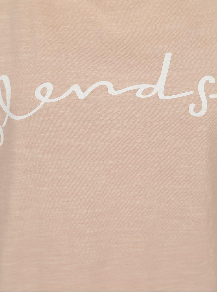 Světle růžové tričko s potiskem Blendshe Cute