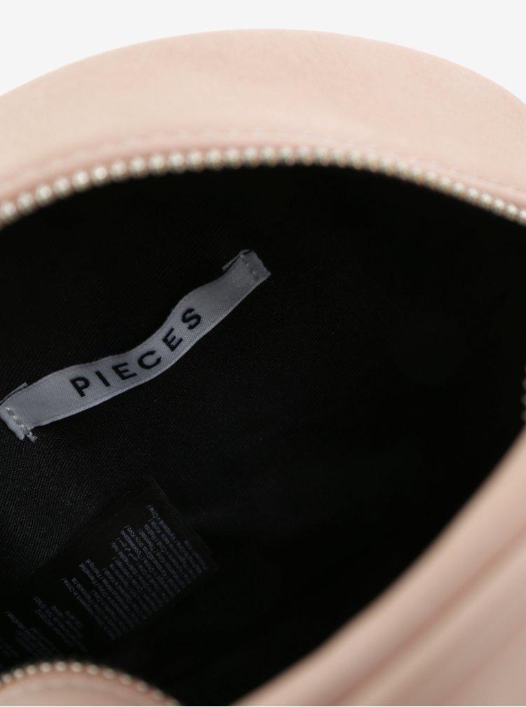 Růžová crossbody kabelka Pieces Galina