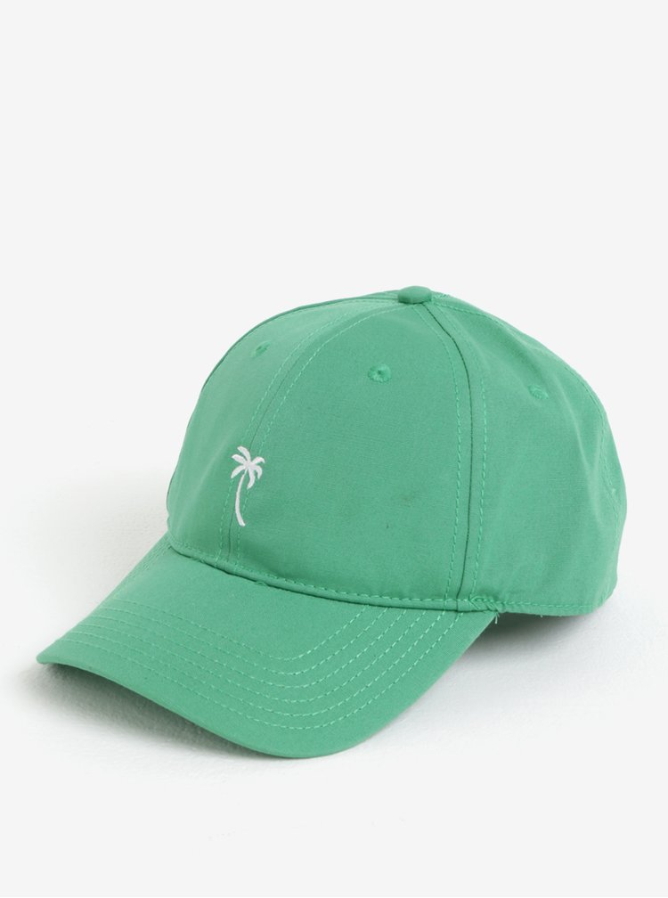 Zelená kšiltovka s výšivkou Dedicated Palm