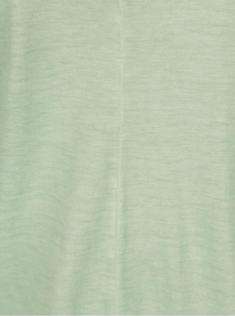 Světle zelené tílko s prodlouženou zadní částí Blendshe Jin