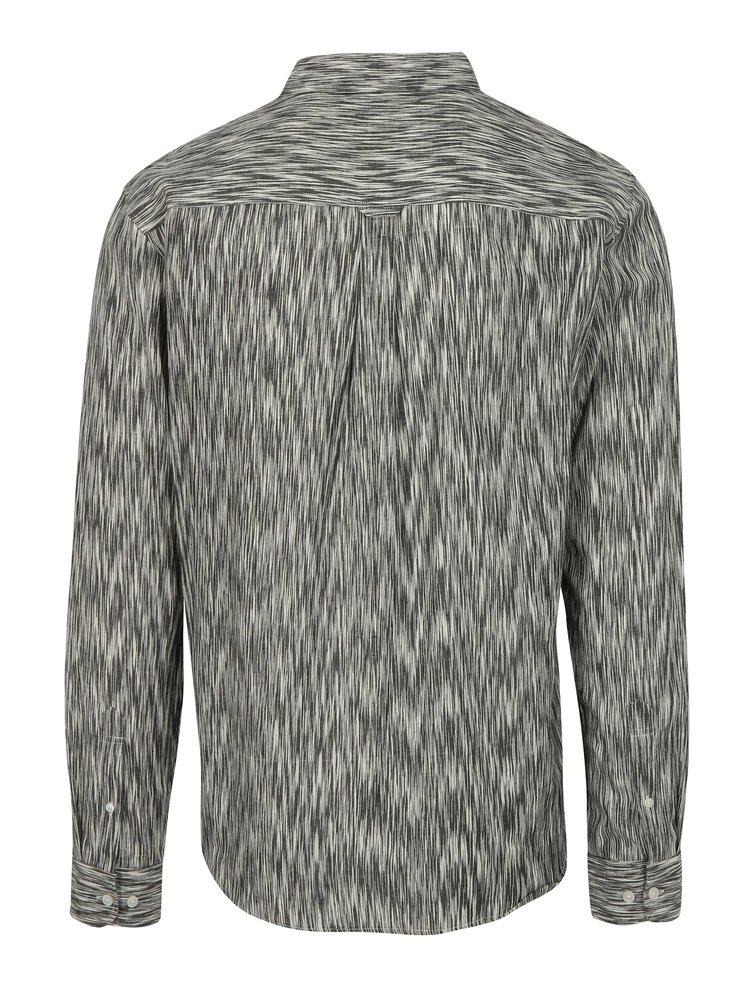 Krémovo-šedá vzorovaná košile Dedicated Glitch