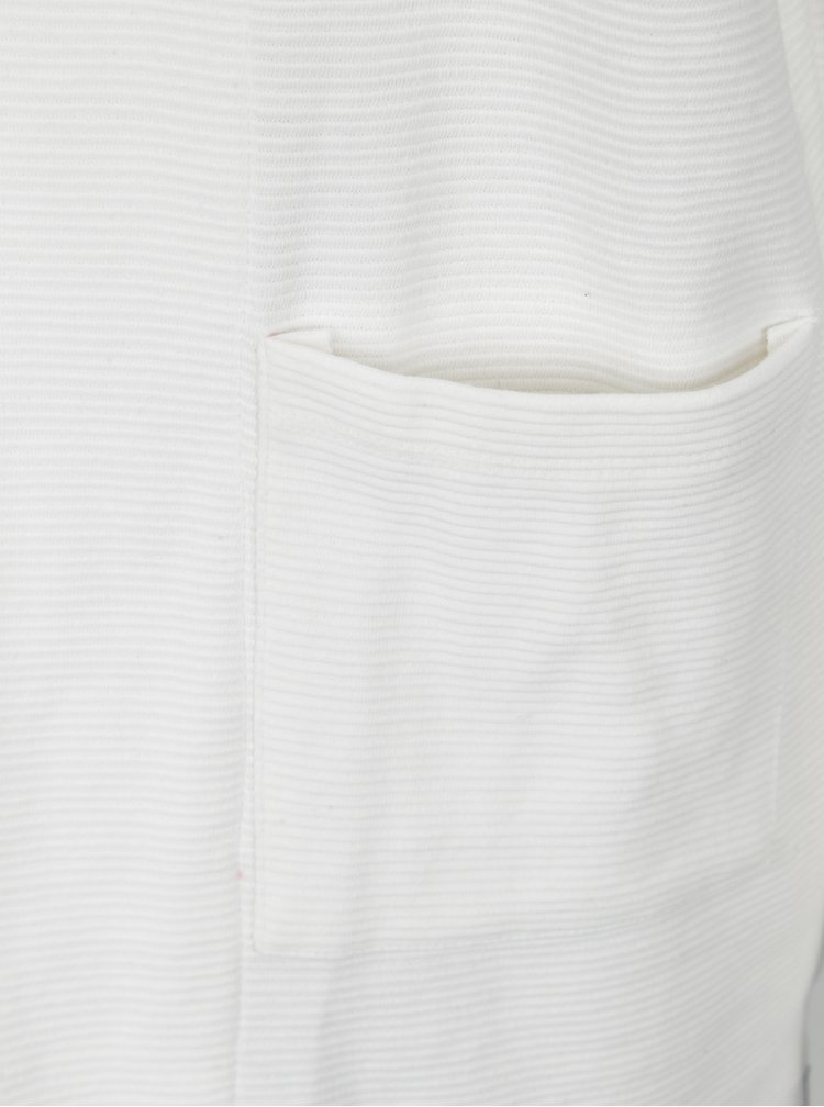 Bílý žebrovaný kardigan s kapsami Blendshe Lucana