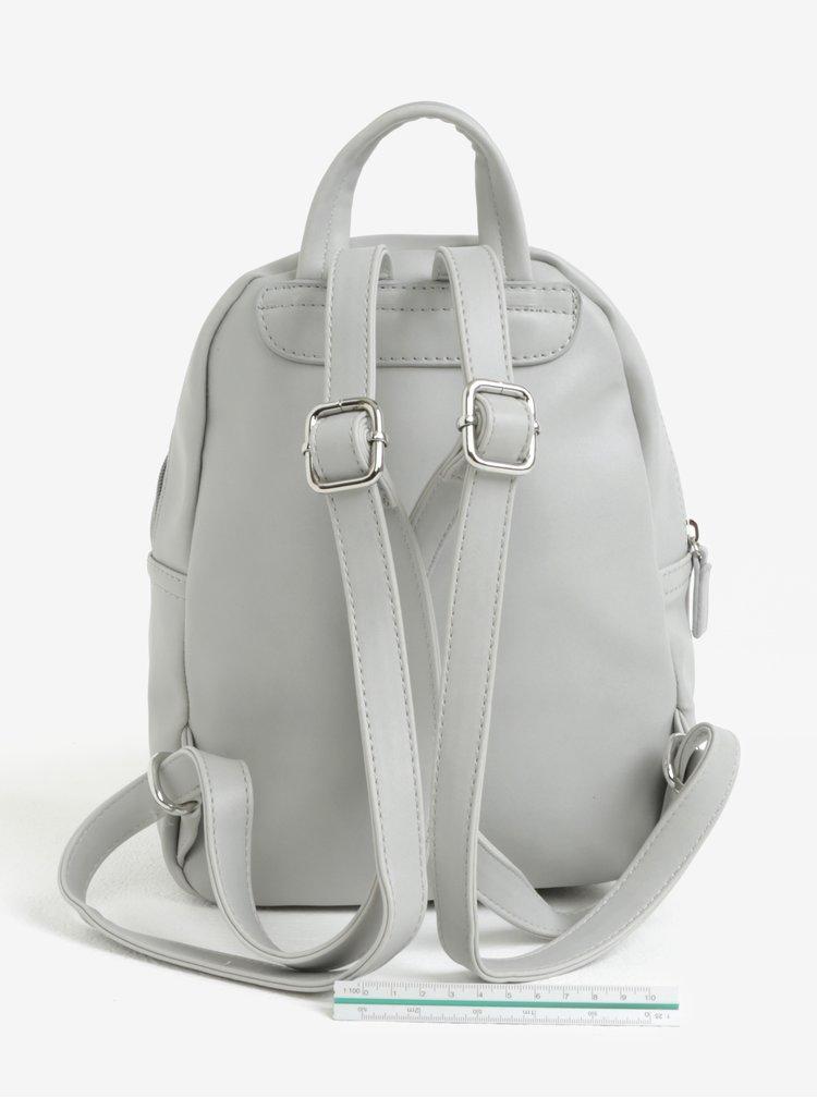 Šedý koženkový batoh ZOOT