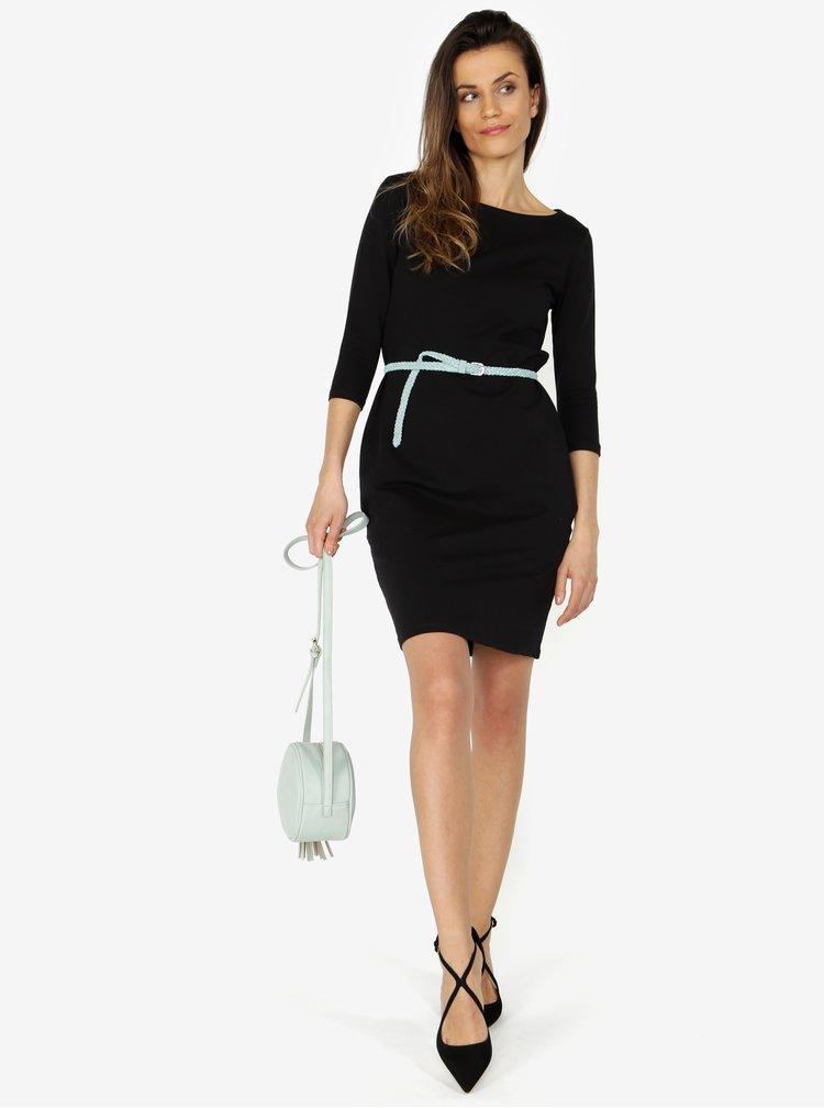 Čierne šaty s 3/4 rukávom ZOOT