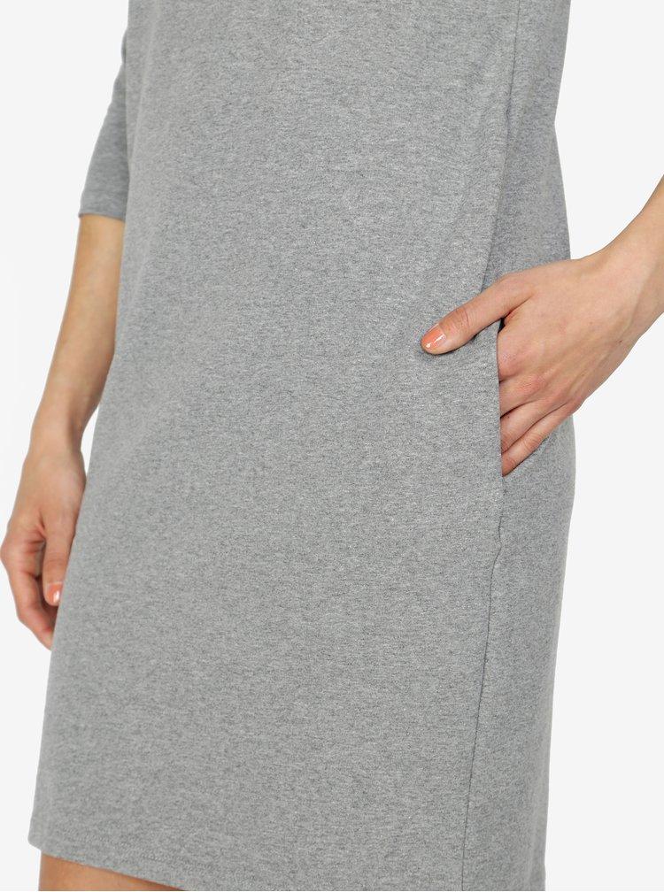 Šedé šaty s 3/4 rukávem ZOOT