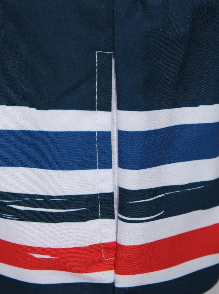Modro-bílé klučičí pruhované plavky s motivem tuc tuc Bathing