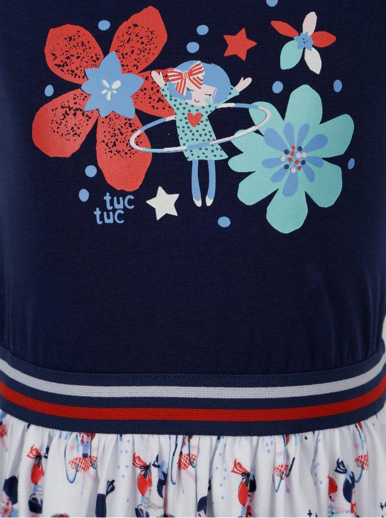 Modro-bílé holčičí šaty bez rukávů tuc tuc Combined Jersey