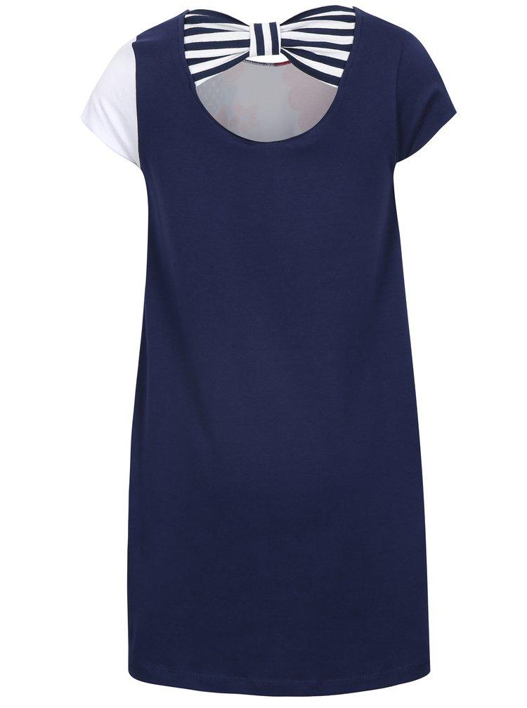 Modro-bílé holčičí květované šat tuc tuc Jersey
