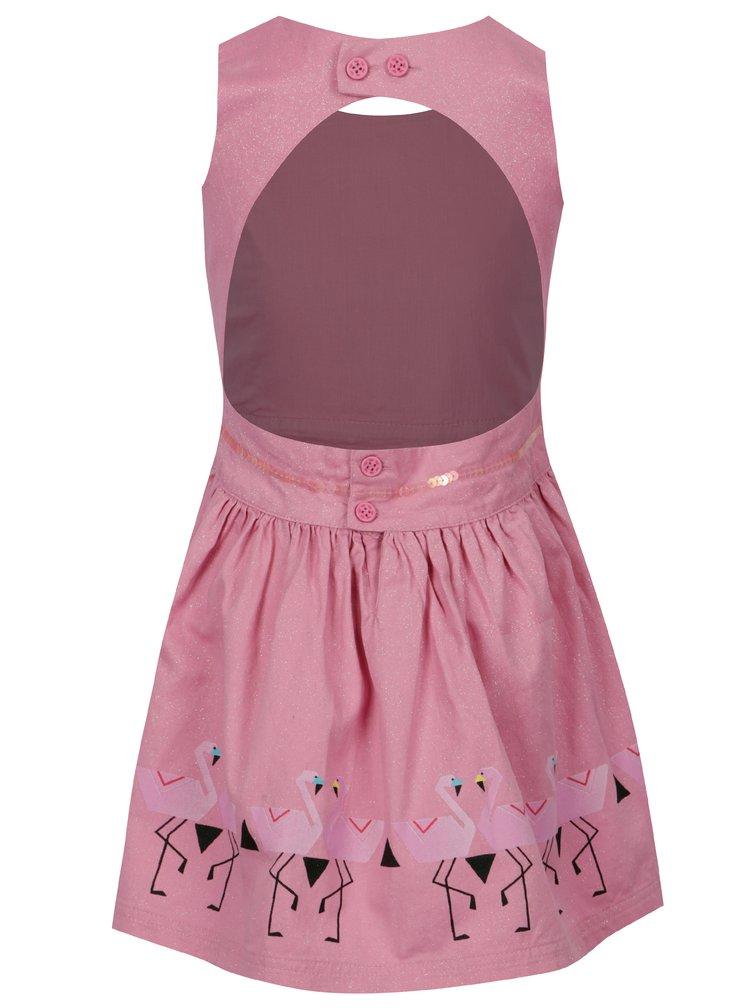 Růžové holčičí třpytivé šaty tuc tuc Twill
