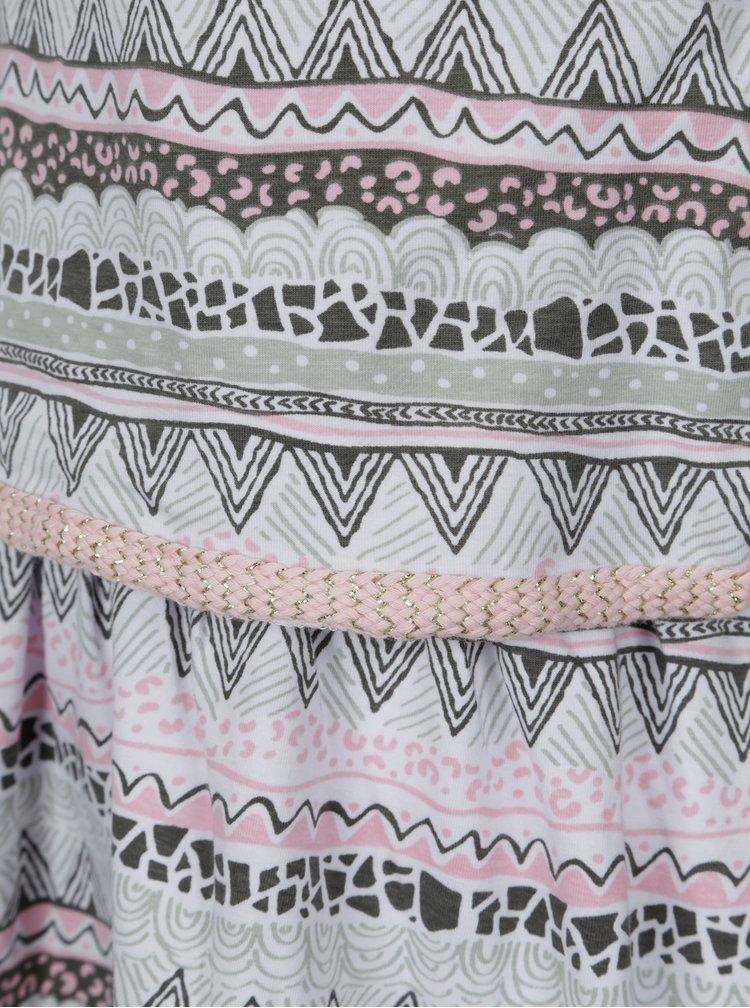 Růžovo-krémové holčičí šaty tuc tuc Jersey