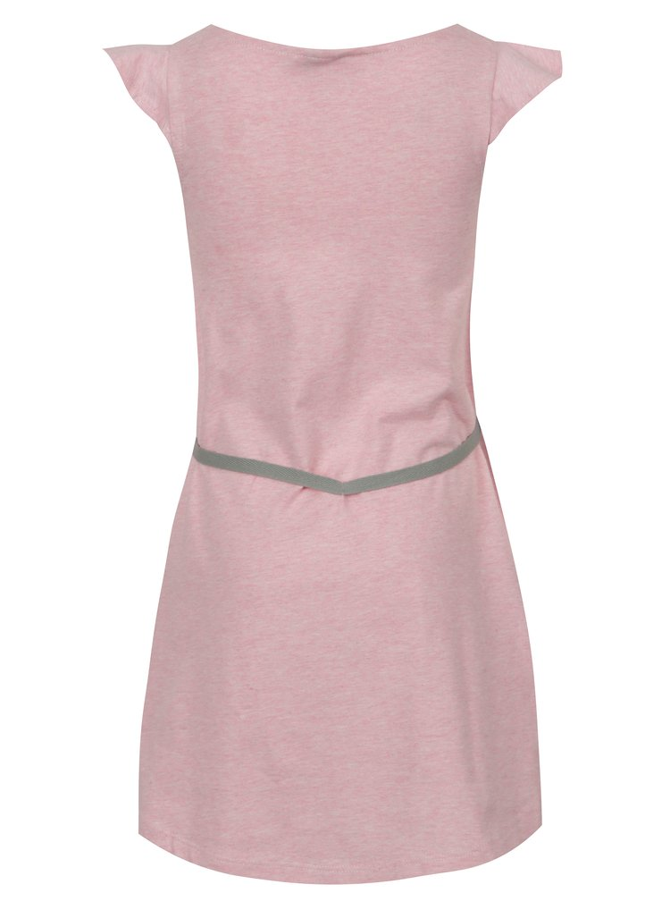 Světle růžové žíhané holčičí šaty s páskem tuc tuc Jersey