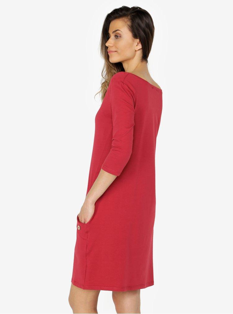 Červené šaty s vreckami ZOOT