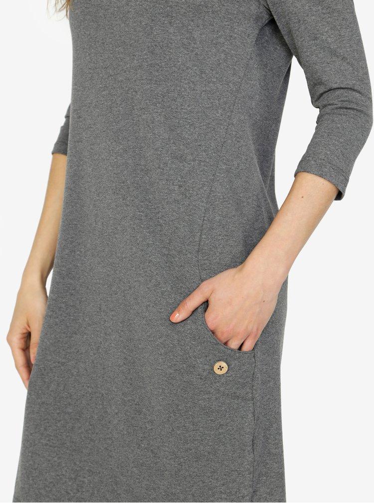 Sivé šaty s vreckami ZOOT